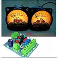 2pcs VU Panel Meter VU Audio Level Amp with Warm Back Light + One Driver Board