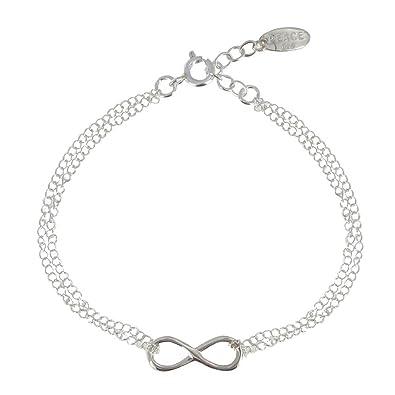 Infini Les Bracelet Double Poulettes Argent Chaines Bijoux dxQhsCBtr