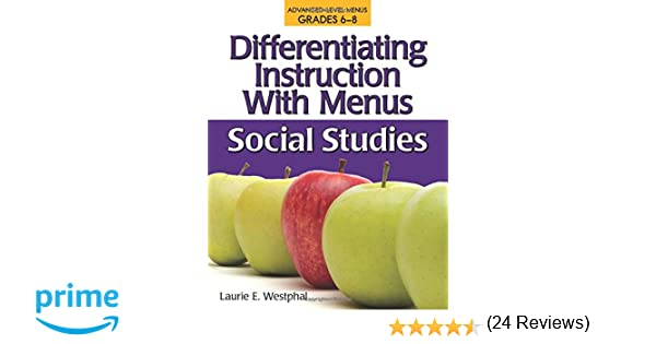 Amazon.com: Differentiating Instruction with Menus: Social Studies ...