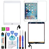PC Hardware : OmniRepairs For iPad Mini 3 (3rd Generation) Retina Display Touch Screen Digitizer Glass OEM Assembly with Home Button, IC Chip, Adhesive Tape, Screen Protector, and Premium Repair Toolkit (White)