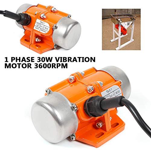Motor TBVECHI AC Vibration Motor 30W Industrial Vibrating Asynchronous Vibrator 110V 3600RPM