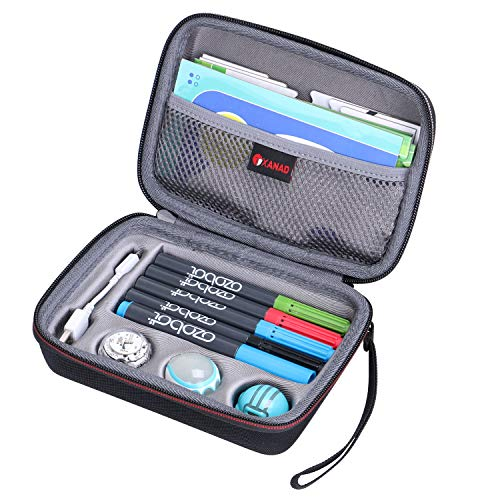 XANAD Hard Storage Case for Ozobot Evo App Connected Coding Robot - Fits 4 Color Code Markers/Skin/playfield/USB Charging Cable (Fits a Full Robotics kit)
