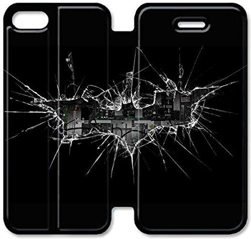 Coque iPhone 5 5S Coque Cuir, Klreng Walatina® PU Cuir de portefeuille de couverture Coque pour Coque iPhone 5 5S Design By Haut Batman Films R3N4Nw