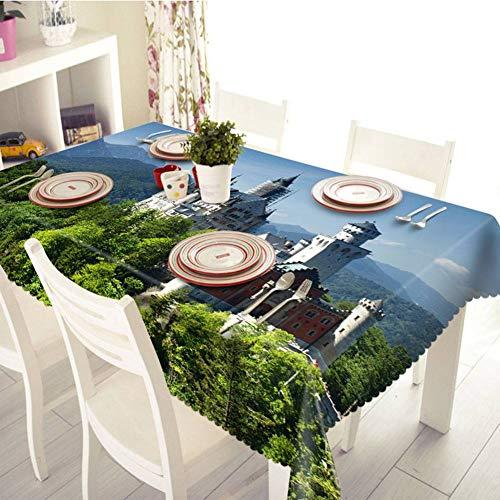 grand178cmlong178cm TBCZHB Nappe de Table rectangulaire d'imprimés Maison Parcravate 3D écran étanche