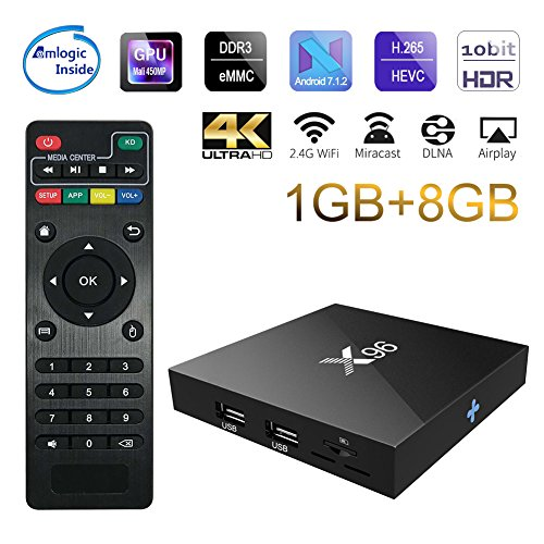 Sawpy X96 Android TV Box 1GB +8GB Android 7.1 DDR3 4K Smart TV Box 64bit Quad Core CPU by Sawpy
