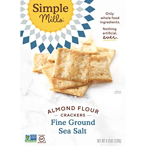 Simple Mills Almond Flour Crackers, Fine Ground Sea Salt, Gluten Free, Flax Seed, Sunflower Seeds, Corn Free, Good for Snacks, Made with whole foods, 6 Count (Packaging May Vary) 2