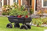 Gorilla Carts Poly Garden Dump Cart with Steel