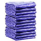 GHP Pack of 12 Pro Heavy Duty Quilted Pads Moving Blanket 72'' x 80'' Furniture