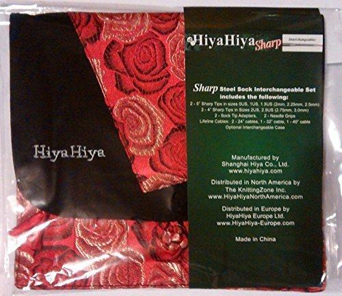 (HiyaHiya SHARP Steel Interchangeable Circular Needles Sock Set)