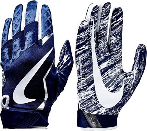 Nike Mens Vapor Jet Football Glove Navy Medium (Nike Vapor Elite Batting Gloves)