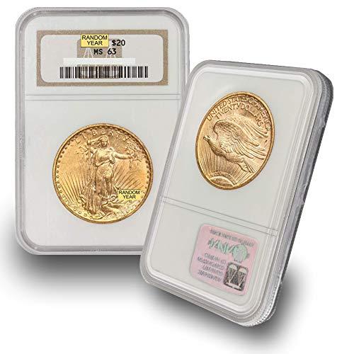 1908 (Random Year) Gold Saint Gaudens Coin $20 MS63 NGC