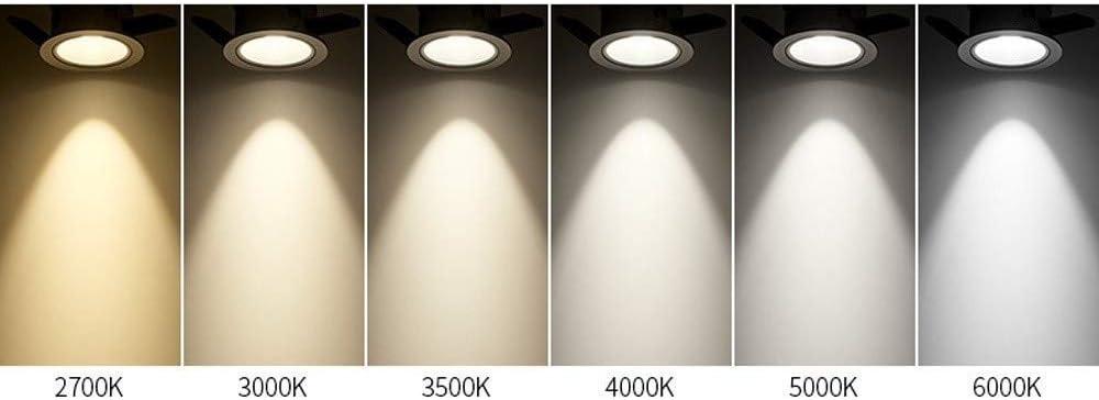 CRI90 Plafondlampen, inbouwlamp, LED, hoge kleur, voor bedrijfsverlichting, huisverlichting, COB LED, inbouwlamp, downlight, 75 mm 3000 K-7 W.