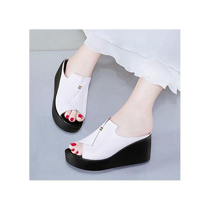 Lha Sandali Pantofole Abbigliamento Estivo Da Donna Fashion Network Infrarossi Dalle Spesse Pareti Del Vento Di Hong Kong Con Fresche colore Bianca