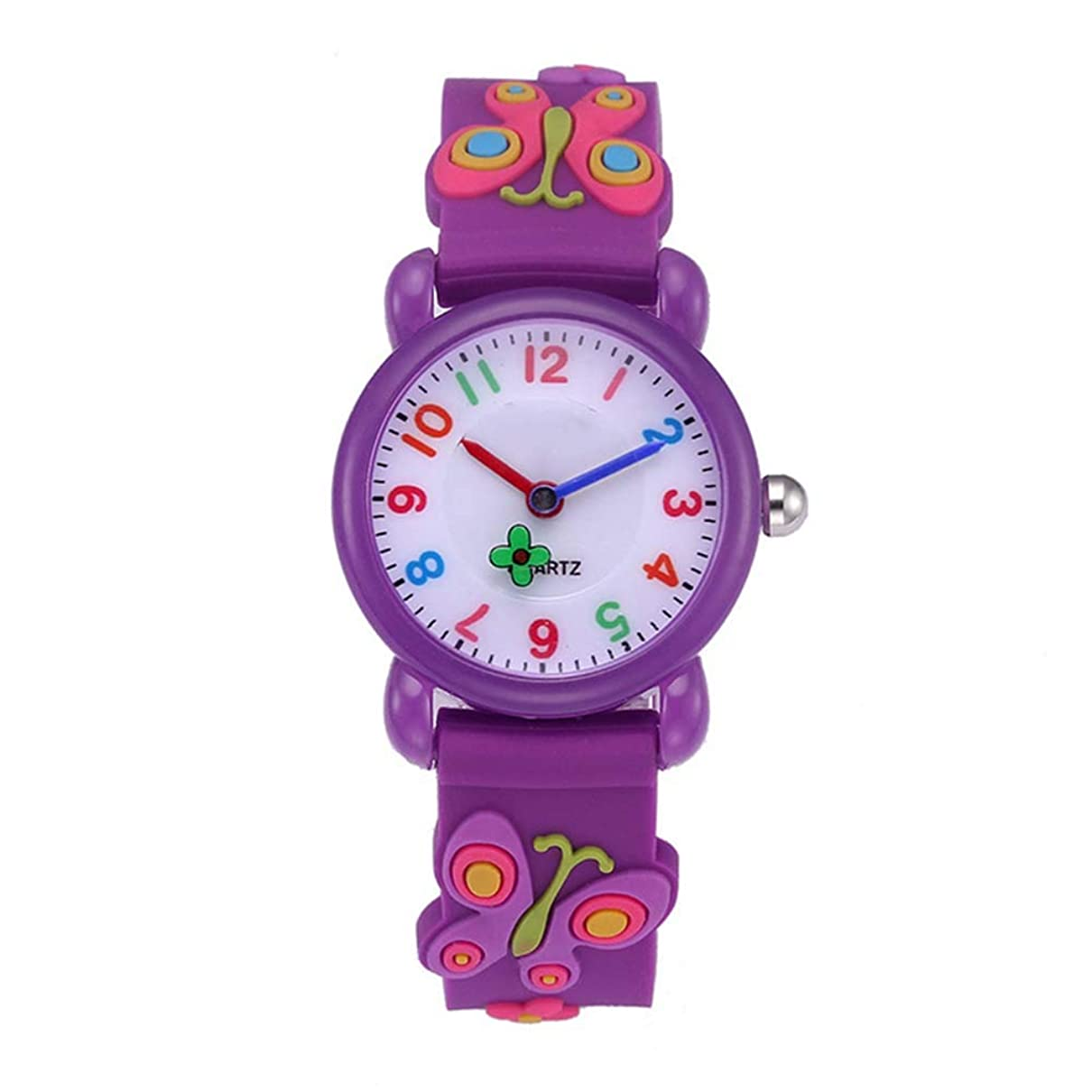 通りガイド気質子供腕時計 男の子 女の子 キッズ 腕時計 曲げ可能なウォッチ 可愛い 3D動物 知育 幼稚園 小学生 入園 入学 卒園 卒業祝い