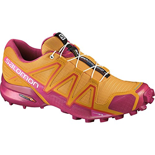 Salomon Women's Speedcross 4 W Trail Runner, Bright Marigold/Sangria/Rose Violet, 8 B(M) US by Salomon