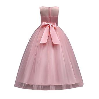 14027730b010 Hougood Girls Dresses Prom Dresses for Kids Flower Girl Fancy Party Dress  Princess Dress up Summer Occasion Dresses Tutu Dresses Performance Costumes  3-15 ...
