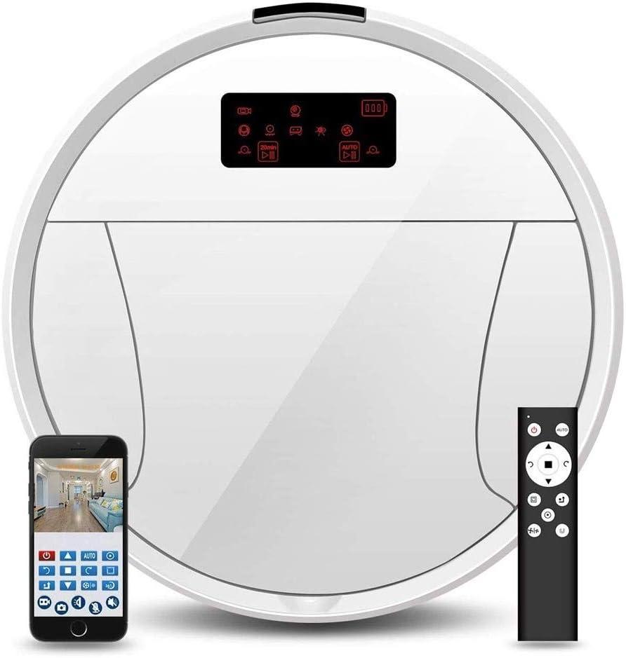 ZTKBG Cámara de vigilancia de Barrido Aspiradora Robot automáticamente Barrido de Suelo de Alta succión Auto-Carga Pila Bueno for Pisos Duros y de bajo Alfombra con el regulador alejado: Amazon.es: Hogar