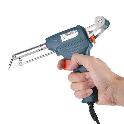 FTVOGUE 220V 60W Automático Portátil Enviar Estaño Eléctrico Soldador Pistola Soldadura Herramienta(02): Amazon.es: Hogar