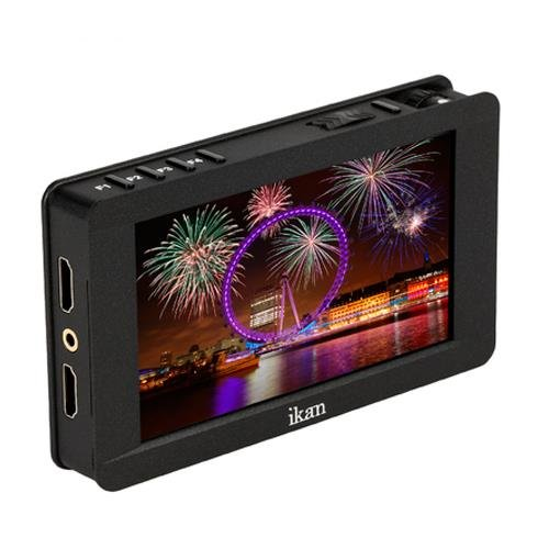 Ikan 5'' 4K Support HDMI On-Camera Field Monitor with Touch Screen, Black (DH5e) by Ikan