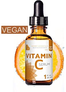 Suero de vitamina C puro y 100 % natural de Secret Essentials, producto végano con