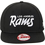 New Era Los Angeles Rams 9Fifty Black & White Script Adjustable Snapback Hat NFL