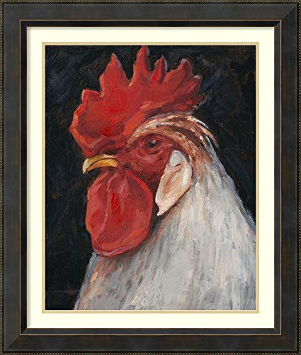 Framed Wall Art Print | Home Wall Decor Art Prints | Rooster Portrait II by Ethan Harper | Traditional Decor
