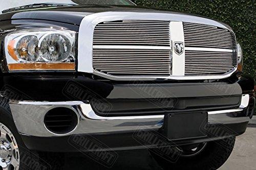 - Grillcraft DOD1007-BAO BG Series Polished Aluminum Upper 4pc Billet Grill Grille Insert for Dodge Ram