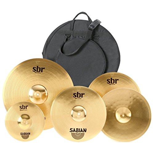 "Sabian SBR Promo Set 14"" Hats, 16"" Crash, 20"" Ride, Free 10"" Splash w/Gig Bag"