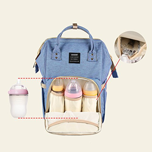 Diaper Bag Multi-Function Waterproof Travel Backpack Nappy Bags for Baby Care, Large Capacity, Stylish and Durable, Yookeyo by Yookeyo (Image #4)