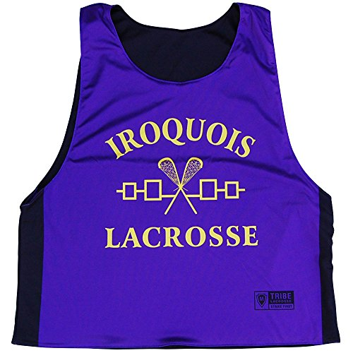 Iroquois Lacrosse Reversible Pinnie, Purple, Youth Small