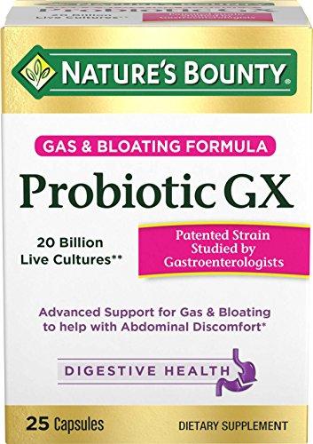 Nature's Bounty Probiotic GX, 25 Capsules