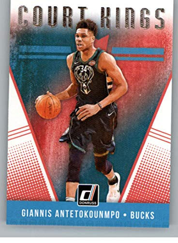 2018-19 Donruss Court Kings Basketball Card #20 Giannis Antetokounmpo Milwaukee Bucks Official NBA Trading Card Produced By Panini ()