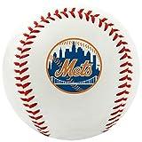 MLB New York Mets Team Logo Baseball, Official, White
