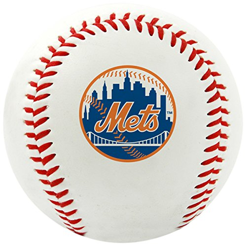 Rawlings MLB New York Mets Team Logo Baseball, Official, White (Mets Ball New York)
