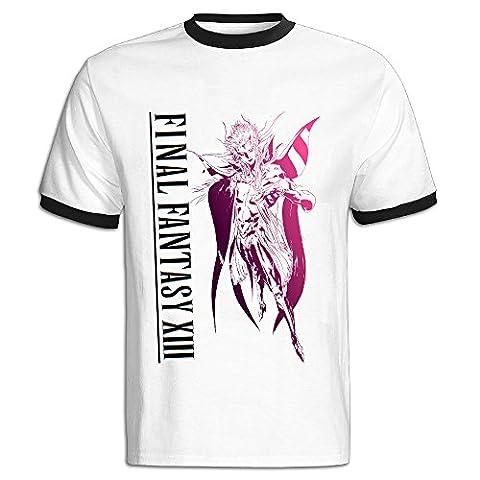 Youqian Final Fantasy XIII Logo Men's T-Shirt X-Large Black Mens (Lightning Returns Guide Book)