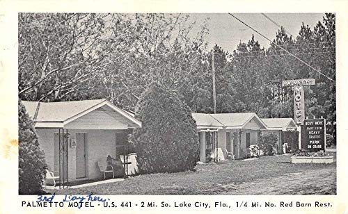 Lake City Florida Palmetto Motel Vintage Postcard JC627953]()