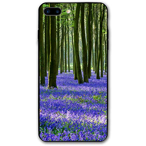 Violet Lavender Sage in The Green Jungle iPhone 8 Plus Case, iPhone 7 Plus Case, Ultra Thin Lightweight Cover Shell, Anti Scratch Durable, Shock Absorb Bumper Environmental Protection Case Cover