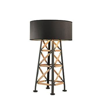LILY Satén y Postmoderno Lámpara de mesa de madera de alta ...