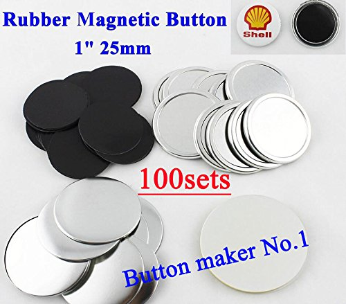 Rubber Magnetic 1 25mm 100sets Badge Button Parts Maker Freezer Sticker DIY CN