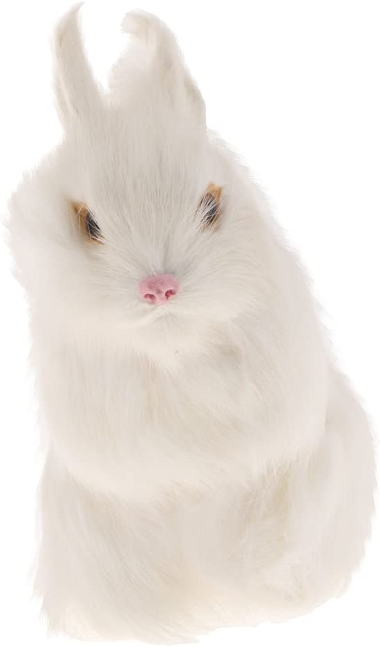 Baoblaze Kaninchen lebensecht Osterhase f/ür Garten Zimmer Tisch Dekoration in unterschiedlichen Form und Farben 1#