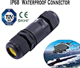 10A 450V 2/3/4 IP68 Waterproof Electrical Cable Wire Connector 4M Depth Water 5-9 mm (3 Pin)