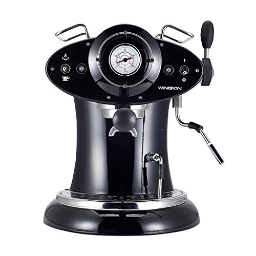 Wingkin Easy to Use Vintage Espresso Coffee Machine Semi Automatic for Home / Office Use with Steam Function, Retro Black Case  (Krupps Espresso Pot compare prices)
