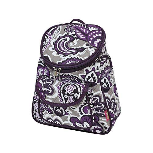 (Purple Paisley NGIL Quilted Mini Backpack)