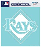 """MLB Tampa Bay Rays Die-Cut Decal, 8""""x8"""", Team Color"""