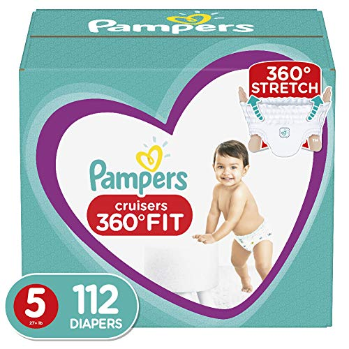 Diapers Size 5, 112 Count – Pampers Pull On Cruisers 360° Fit Disposable Baby Diapers with Stretchy Waistband, ONE MONTH…