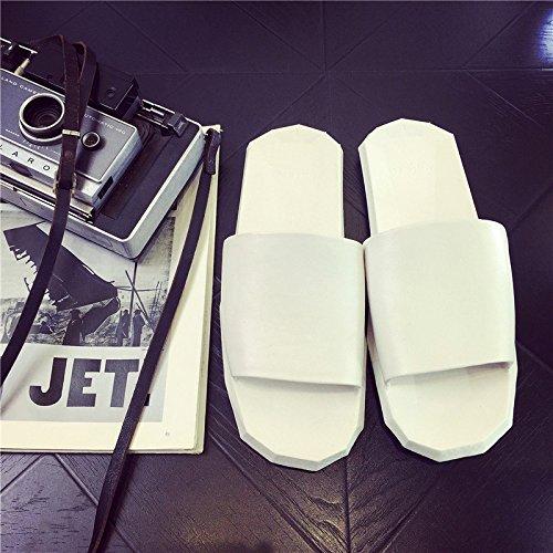 verano hay DogHaccd Zapatillas permanezca hembra antideslizante Blanco3 zapatillas macho casa interior cool casa en Zapatillas de parejas las plástico de verano de baños qttrw6p