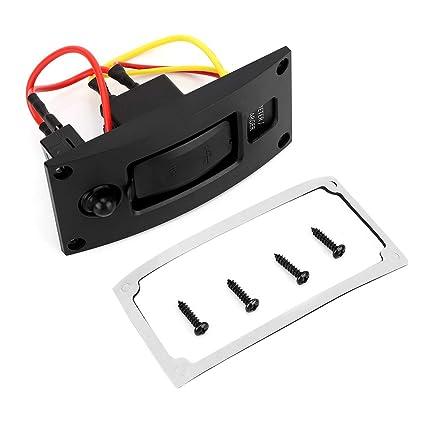 NITRIP 5V3.4A Interruptor del panel del medidor del cargador USB ...