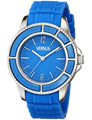 Versus by Versace Womens SGM040013 Tokyo Stainless Steel Light Blue Dial Luminous Hands Watch
