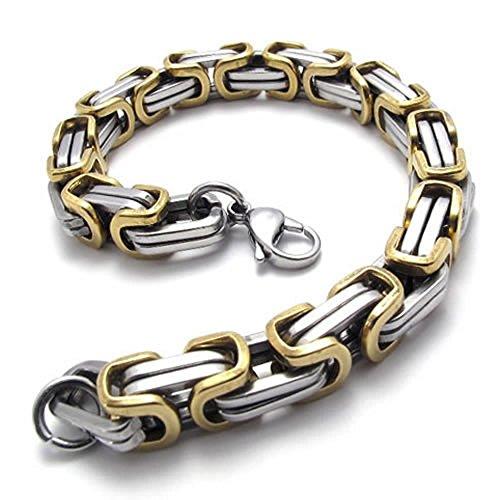 KONOV Stainless Steel Bracelet Silver