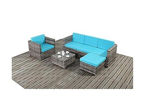 UniqueChic Furniture PREMIER SALON DE JARDIN EN ROTIN GRIS ...